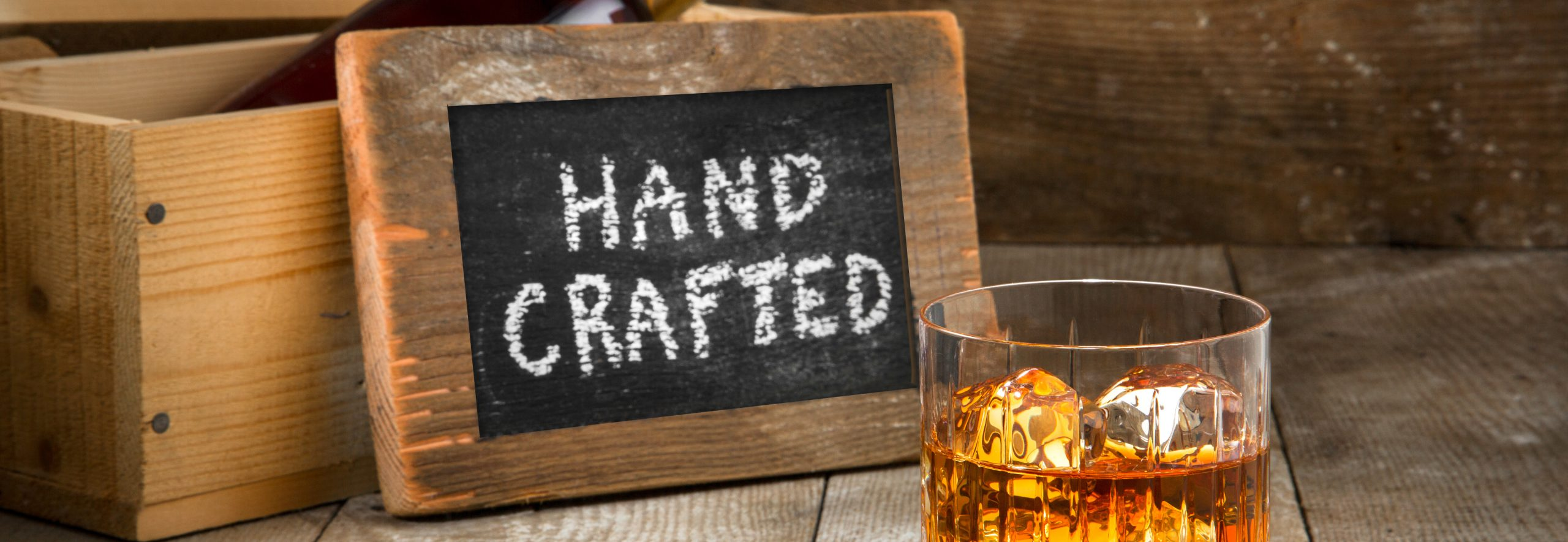 hand crafted sign
